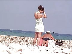Espía de PJ en la playa # 5