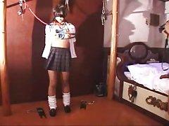 Chica bondage asiático