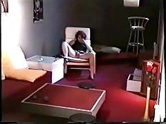 Gran vista de mi mamá digitación en sala de estar